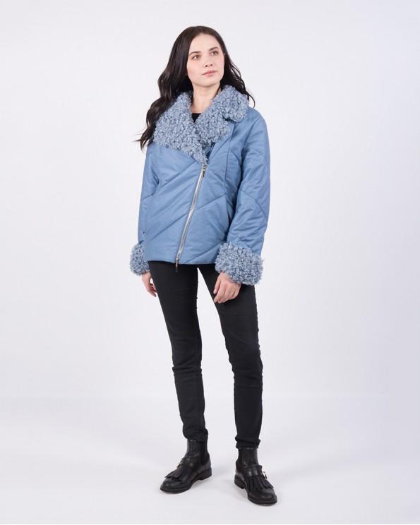 Куртка-косуха женская голубого цвета ALVO