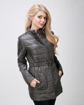 Демисезонная куртка женская с поясом