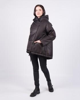 Модная черная куртка оверсайз на весну