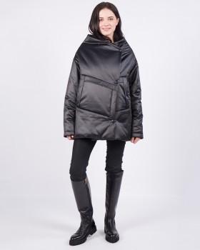 Короткая женская куртка оверсайз