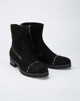 Женские ботинки замшевые на шерсти