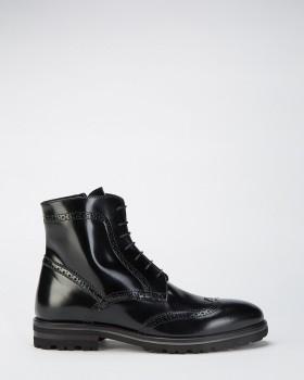 Ботильоны кожаные на шнуровке