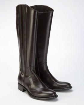 Сапоги высокие женские кожаные