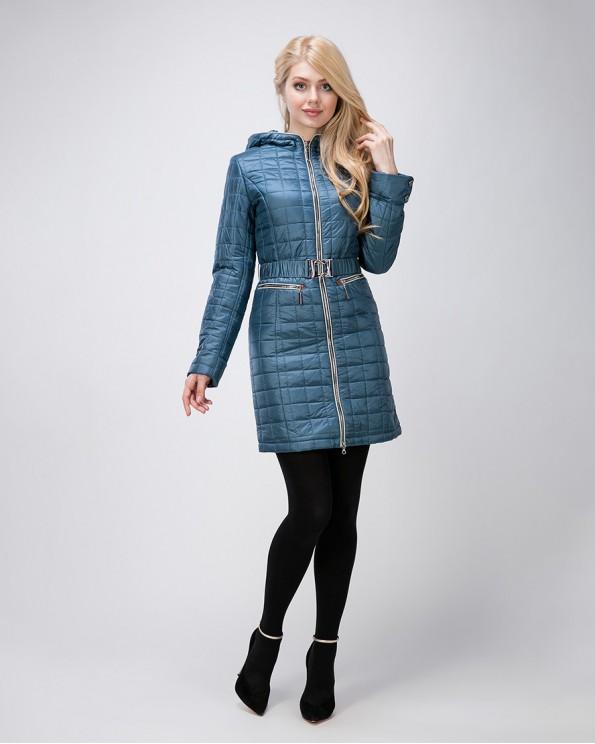 Молодежное стеганное пальто на весну