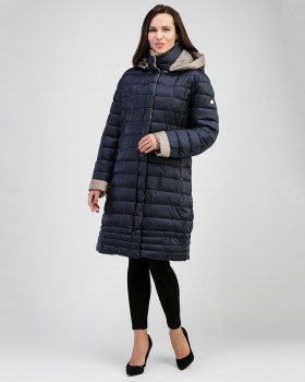 Женское демисезонное пальто с утеплителем