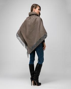 Итальянское пальто пончо из шерсти