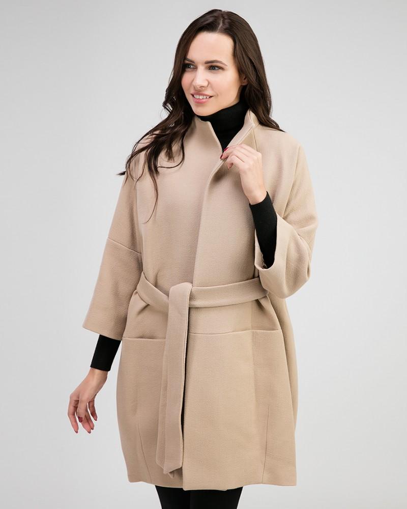 1d6b78ad56f Пальто женское из шерсти силуэта кокон - купить недорого в интернет ...