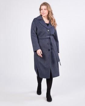 Пальто прямого кроя ниже колена