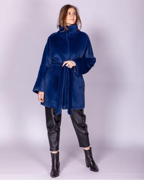Полупальто женское синего цвета