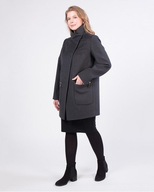 Шерстяное укороченное пальто ALVO