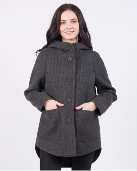 Пальто молодежное с капюшоном