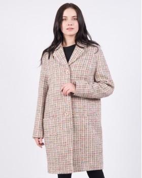 Пальто модное в клетку ALVO