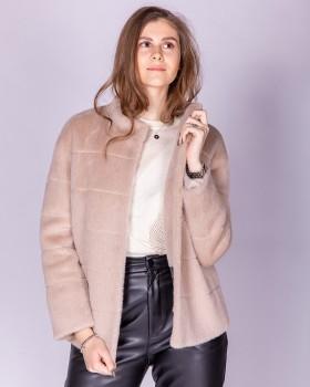 Женское стильное короткое пальто