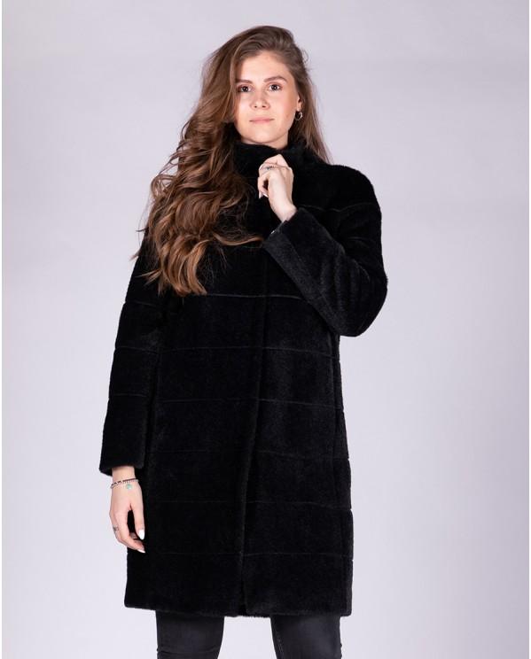 Прямое пальто женское средней длины