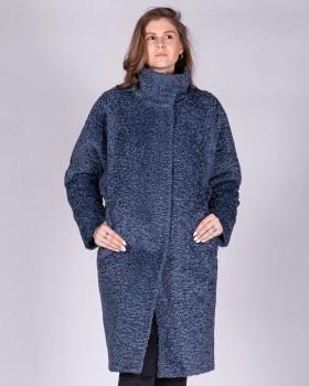 Плюшевое пальто свободного кроя