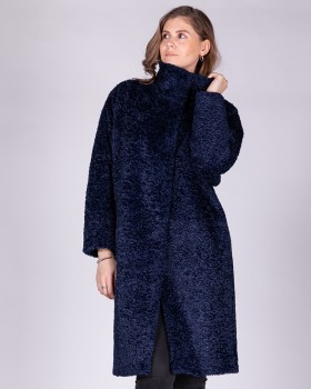 """Пальто из ткани с эффектом """"барашек"""""""