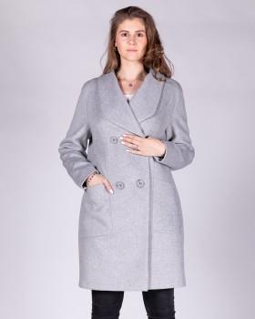 Модное двубортное пальто осень 2019