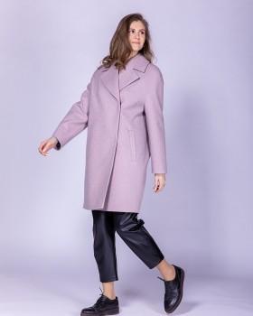 """Розовое пальто из ткани """"гусиная лапка"""""""