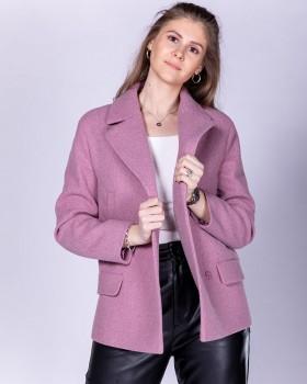 Короткое женское пальто из шерсти на весну