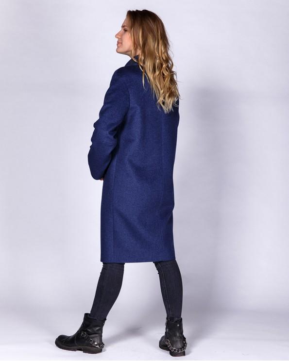 Пальто из шерсти прямого силуэта по колено