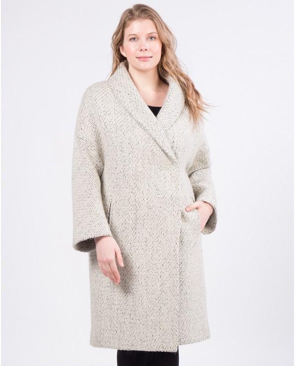 Пальто шерстяное на большие размеры