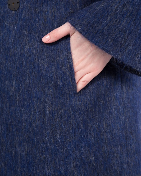 Пальто женское синее ALVO
