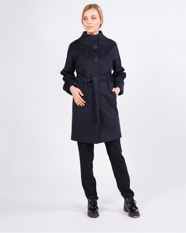 Пальто шерстяное синее ALVO