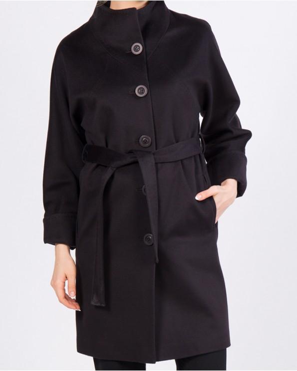 Прямое пальто до колена с поясом