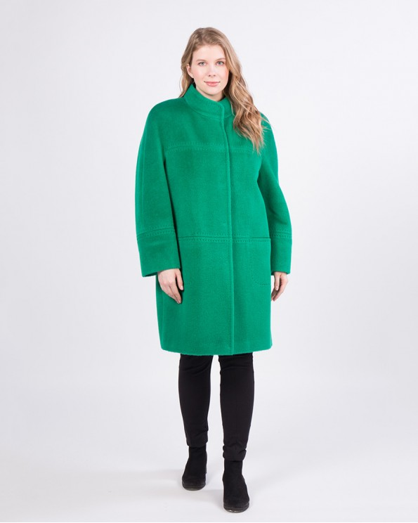 Пальто из альпака сури прямого силуэта
