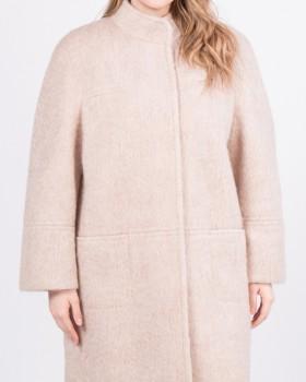 Пальто из мохера светло-бежевого цвета
