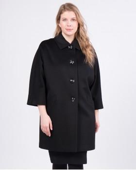 Кашемировое пальто с укороченными рукавами
