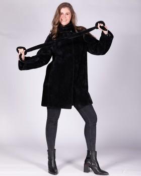 Полупальто женское черного цвета ALVO