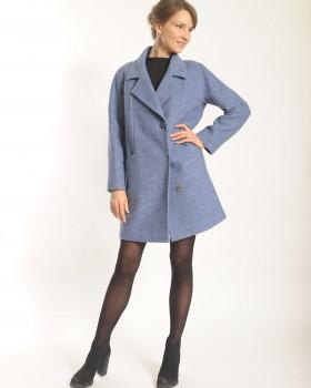 Укороченное пальто с английским воротником
