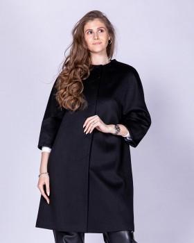 Пальто из кашемира с укороченным рукавом и без воротника