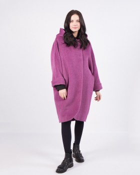 Сиреневое пальто ALVO из альпака