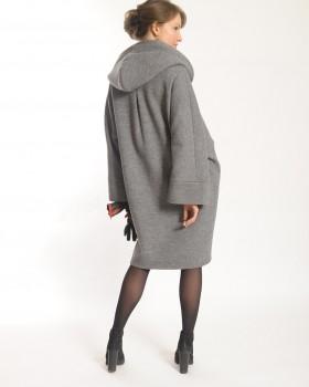Пальто оверсайз с капюшоном ALVO
