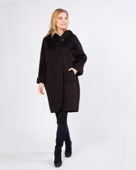 Пальто из альпака свободного силуэта