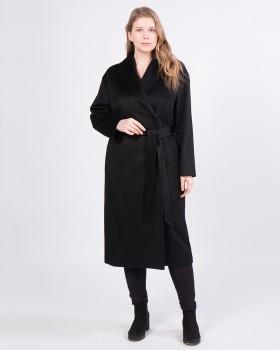 Кашемировое пальто черного цвета