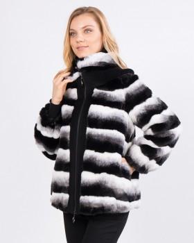 Куртка из искусственного меха под шиншиллу