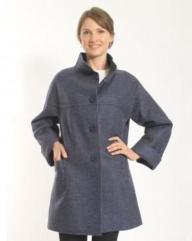 Укороченное пальто полушерстяное