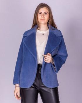 Короткое пальто женское с ворсом