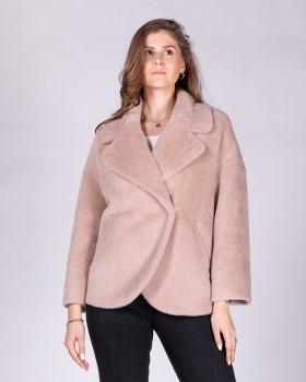 Укороченное пушистое пальто ALVO