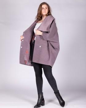Модное пальто ALVO фасона пончо