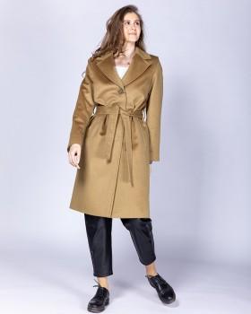 Элегантное женское пальто из высококачественной шерсти