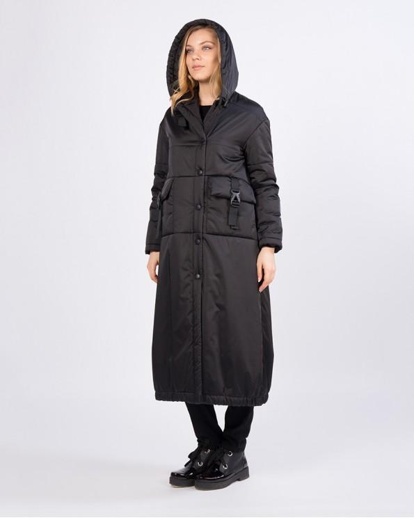 Длинное демисезонное пальто оверсайз