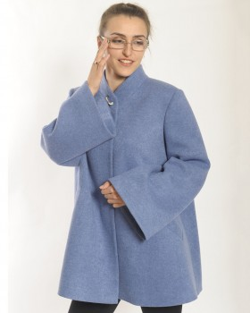 Расклешенное короткое пальто из шерсти