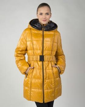 Желтый зимний пуховик для женщин