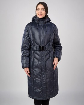 Зимнее длинное пальто на тинсулейте
