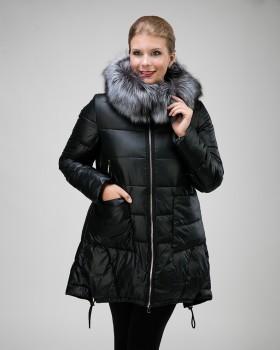 Удлиненная куртка А-силуэта на тинсулейте