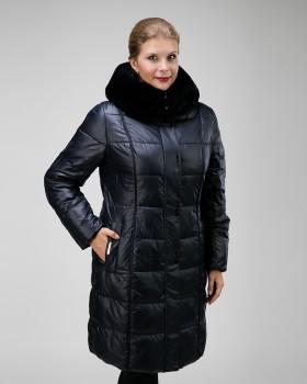 Зимнее пальто на тинсулейте с мехом кролика